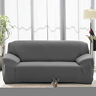 Boshen Stretch Seat Chair Covers Couch Slipcover Sofa Loveseat Cover 9 Colors/4 for 1 2 3 4 Four People Sofa + 1 Pillowcase (57