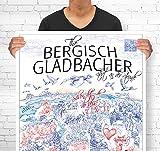 Lieferlokal Stadtposter Bergisch Gladbach in limitierter