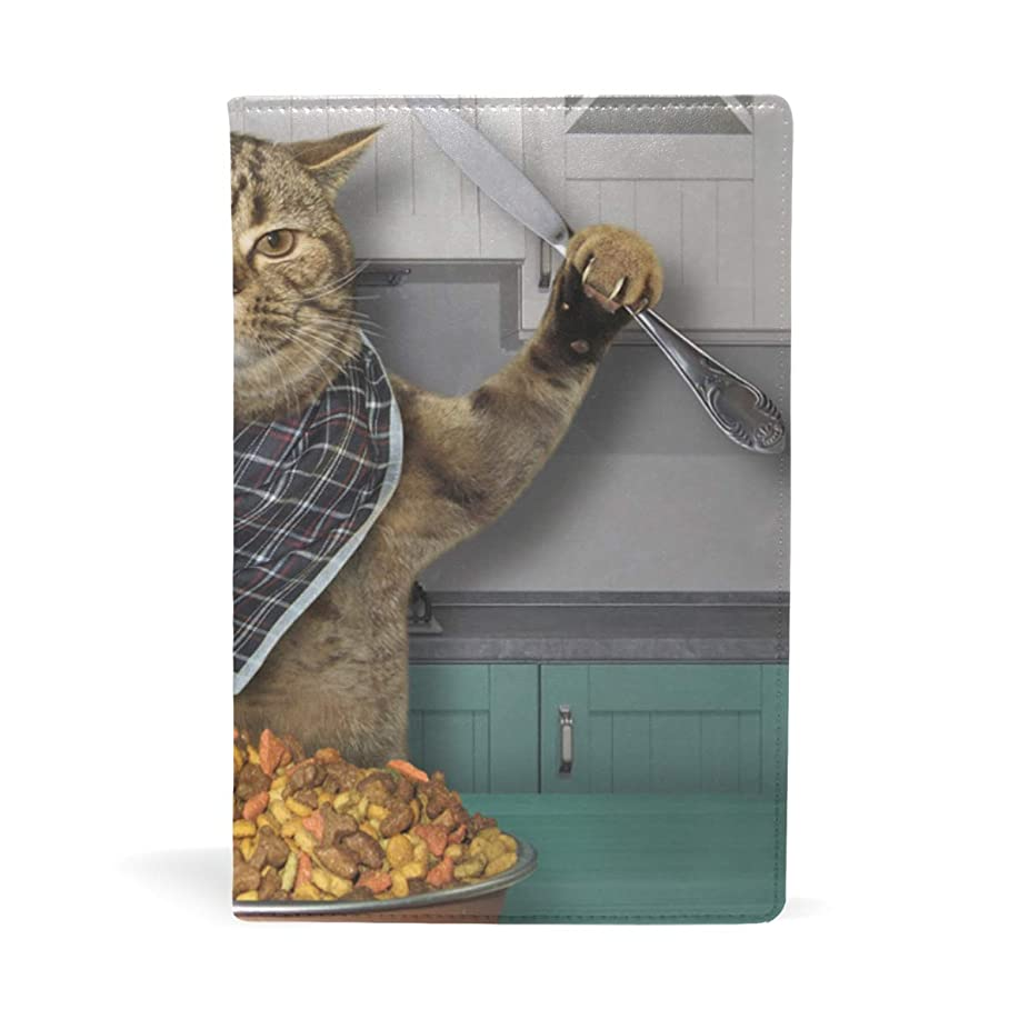 汚すピットみすぼらしいオレンジ色の猫 ブックカバー 文庫 a5 皮革 おしゃれ 文庫本カバー 資料 収納入れ オフィス用品 読書 雑貨 プレゼント耐久性に優れ