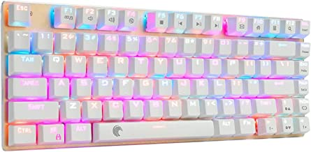 Z-88 60% RGB Mechanical Gaming Keyboard, Blue Switch, LED Backlit, Waterproof, Compact 81 Keys Anti-Ghosting for Mac PC, G...