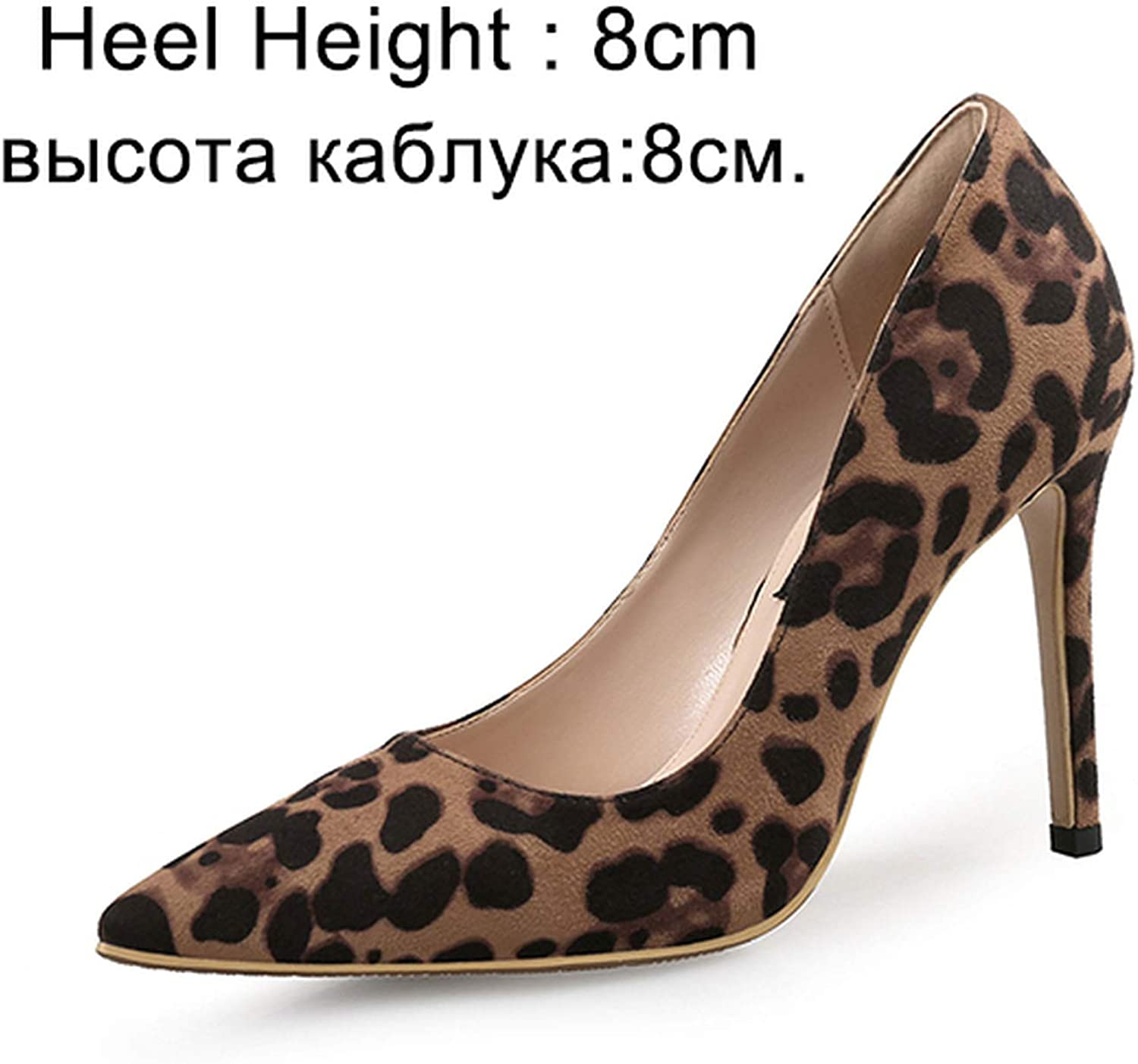 Crunchy Candy Sexy Women Pumps High Heels shoes Leopard Thin Heels shoes Pointed Toe Single Pumps