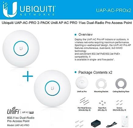 $273 Get Ubiquiti UAP-AC-PRO 2-PACK Unifi AP AC PRO 11ac Dual-Radio Pro Access Point