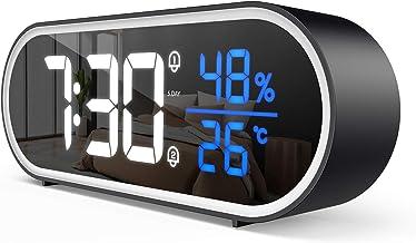 FOZHUATR Digitaler Wecker,LED Digitaluhr Tischuhr mit Temperatur und..