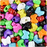 BeadTin Opaque Multi 13mm Butterfly Pony Beads (250pcs)