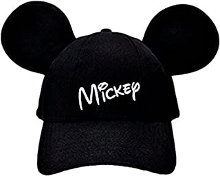 Disney Mickey Mouse Mens' Character Baseball Hat, Black, Adult