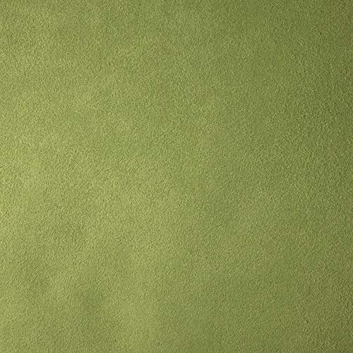 Deshome Teknofibra – Tejido al metro de suave microfibra antimanchas h 140 cm – para decoración de sofás, sillones, asientos, puf (verde, 10 metros)