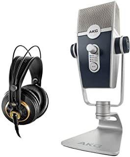 AKG Lyra Multipattern USB Condenser Microphone with AKG K 240 Studio Pro Headphones Bundle