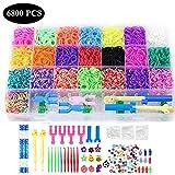 Chantwon Loom Bänder Kit, 6800pcs DIY Gummibänder Loom Bänder Box Loombänder für Armband...