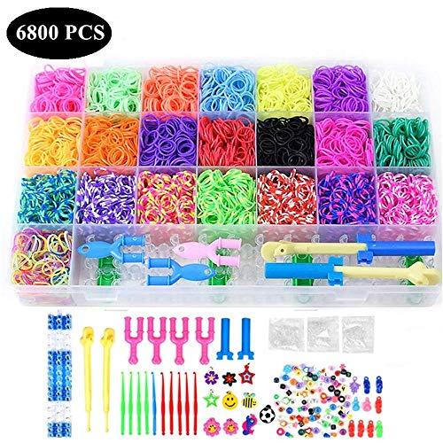 Chantwon Loom Bänder Kit, 6800pcs DIY Gummibänder Loom Bänder Box Loombänder für Armband Halskette