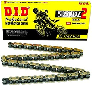 D.I.D. 520DZ2-112 Gold High Performance 112-Link X-Ring Chain with Connecting Link