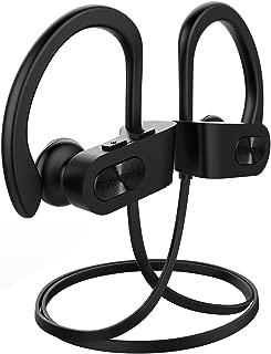 Mpow Flame Bluetooth Headphones Sport IPX7 Waterproof Wireless Sport Earbuds, Richer Bass HiFi Stereo in-Ear Earphones, 7-9 Hrs Playback, Running Headphones W/CVC6.0 Noise Cancelling Mic, Black