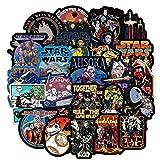 Nueva Pegatina para Maleta de Star Wars, Signo de Marea Impermeable, Personalidad, Guitarra, Maleta, Caja de Palanca, Pegatina, 100 Uds.