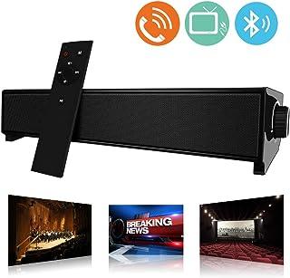 Barra de Sonido, MeihuaTu Altavoz de Audio Bluetooth Inalámbrico para TV PC 20W, USB Soundbar Soporte RCA/AUX/Bluetooth, con Control Remoto-Negro
