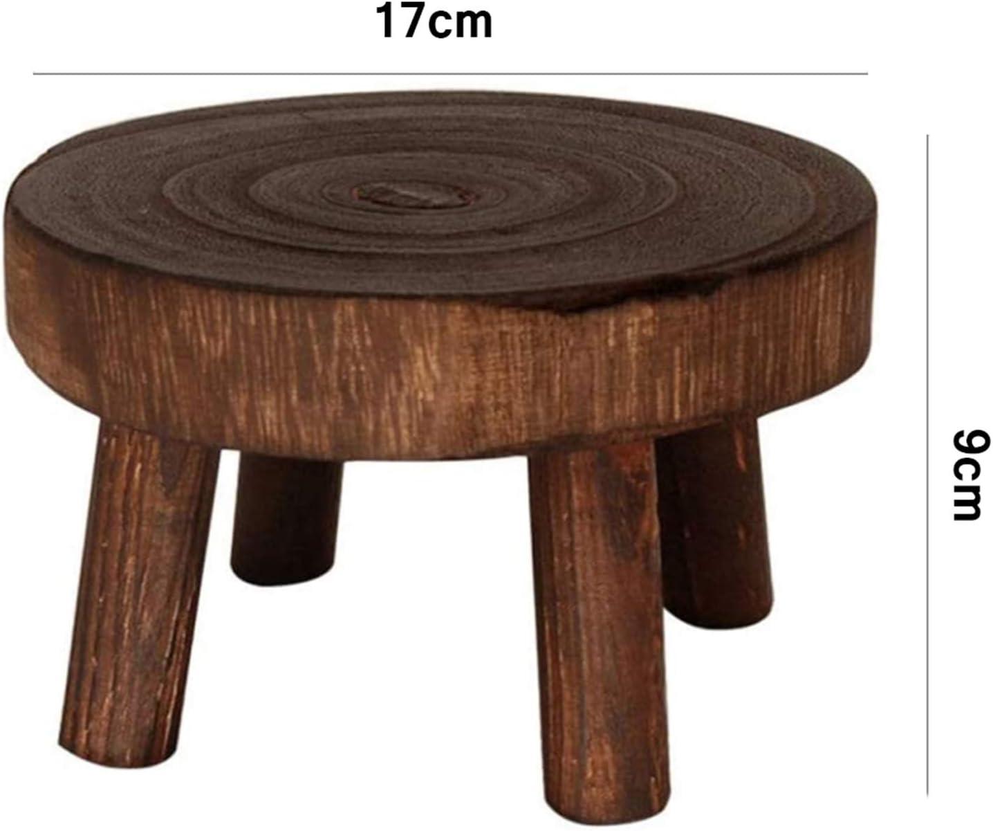 Carjourney Holz Blumenhocker Ausstellungsstand Deko Blumenst/änder Hocker Holz Blumentopfst/änder Pflanzenhocker Massiv Deko Holz Blumentopf Basishalter Hocker