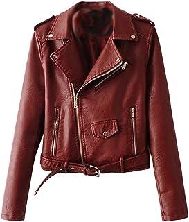 online store 192a9 dc8cb Amazon.it: Ecopelle - Rosso / Giacche e cappotti / Donna ...