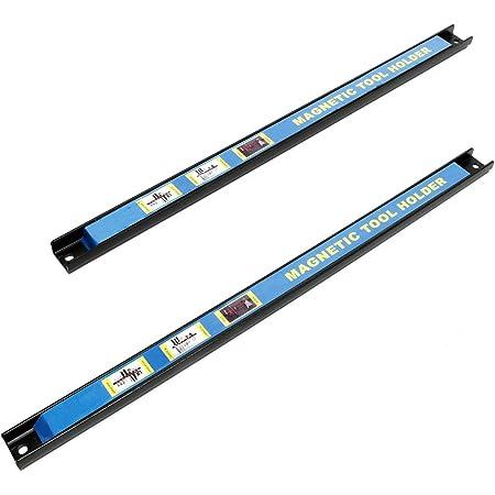 Listón magnético Barra magnética 61cm Set 2 piezas Soporte herramientas Barra herramientas Taller