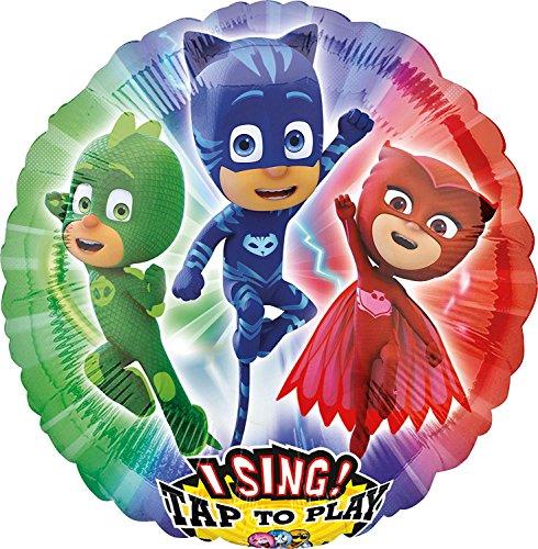 Neu: Singender Folienballon * PJ Masks * für Kindergeburtstag und Motto-Party | Pyjama Helden Kinder Disney Folien Ballon Helium Deko Dekoration Ballongas