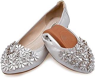 LaBiTi Big Size Women Flat Ballet Flats Foldable Shoes Casual Soft Dancing Egg Roll up Shoes