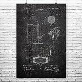 Patent Earth Bezzera Espresso Machine Poster Print, Coffee Shop Decor, Barista Gift, Espresso Bar Art, Espresso Lover Gift (11 inch x 14 inch)