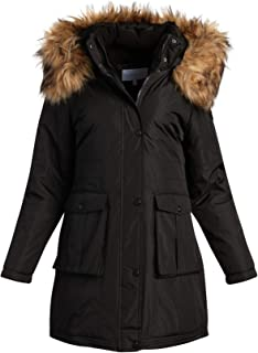 Women's Outerwear Parka Jacket with Removable Hood