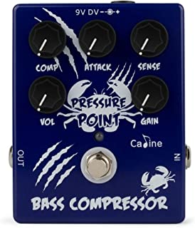 Caline Effect Pedal Electric Bass Compressor Guitar Pedal True Bypass Full Metal Shell Pressure Point Blue CP-45