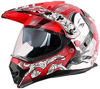 Enduro Helmet Men & Women Double Visor Motocross Helmet MotorFull Face Helmet Cross Crash Helmet for Motorcycle Off Road M...
