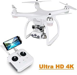 UPAIR Two dron cuadricóptero con cámara 3D 4K 2.4G Control Remoto FPV Transmisión en Vivo RC Quadcopter Drone Modo Sígueme Modo sin Cabeza y waypoints