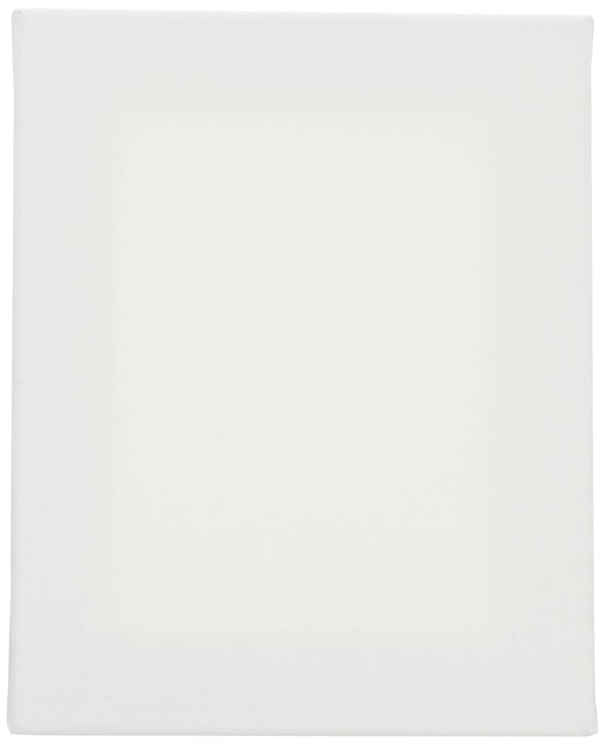 TARA Stretched Back Stapled Cotton Canvas, 8 x 10 Inches, White, Pack of 3