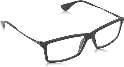 Ray-Ban RX7021 Mathew Rectangular Eyeglass Frames, Rubber Black/Demo Lens, 55 mm