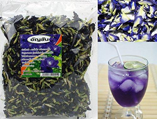 100% Naturally Produced Dried Blue Pea (Clitoria Ternatea) - Butterfly Pea Tea 100g Bag (Grade A)