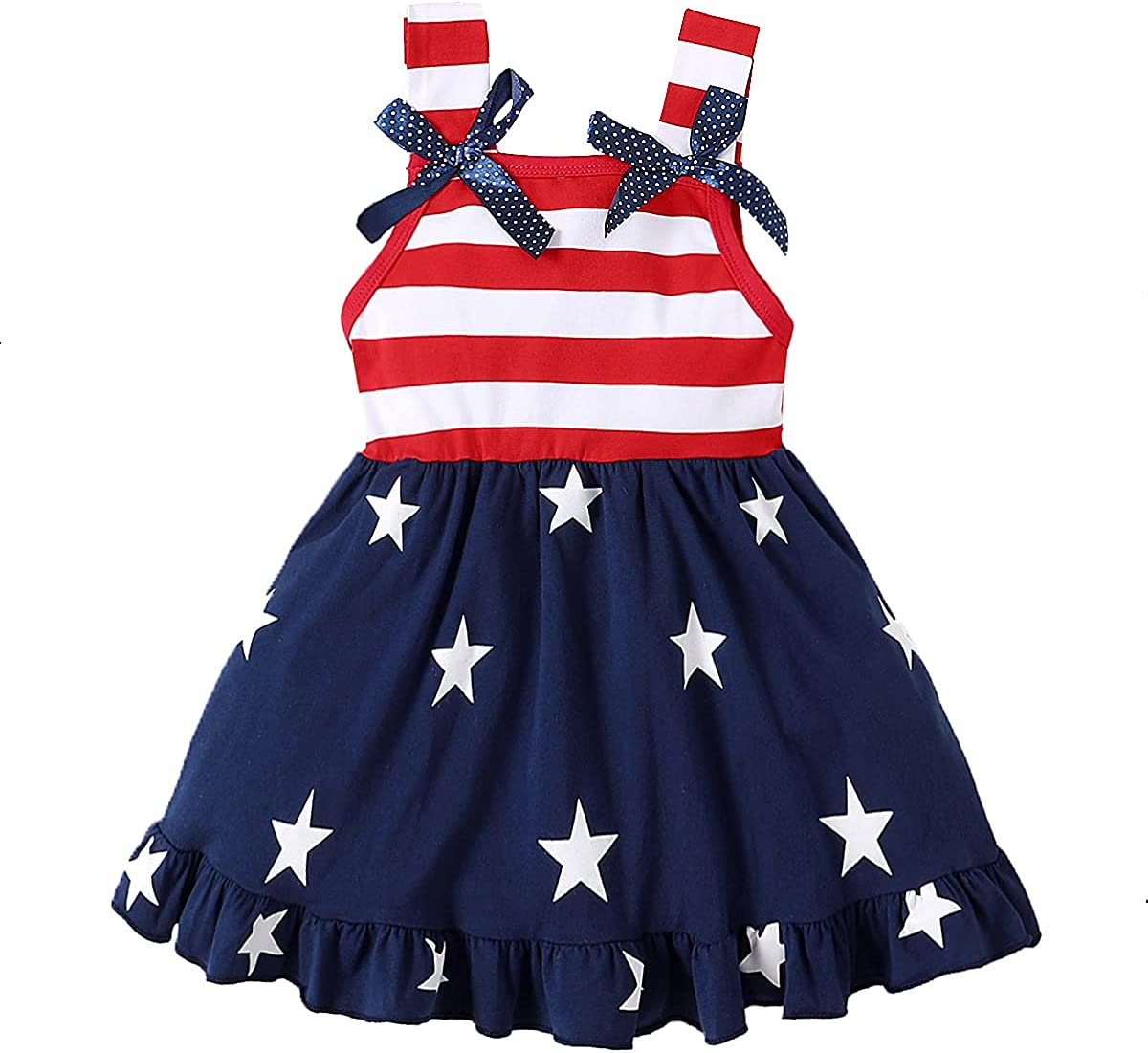 MagicPark Toddler Topics on TV Kids Baby Girls Summer 4th Outfit Amer of July NEW before selling