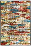 Brumlow Mills Rustic Abstract Bohemian Contemporary Colorful Print Pattern Area Rug for Living Room Decor, Dining, Kitchen Rugs, Bedroom or Entryway Rug, 3'4' x 5', Earthtones