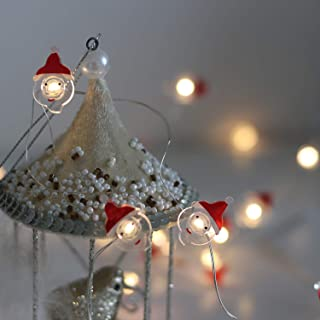 Battery Operated Christmas Lights Decorative String Lights LED 20 Santa Claus Novelty Fairy Lights Flexible Copper Wire Indoor Decoration Lights for Christmas,Holidays,Party (Santa Claus)