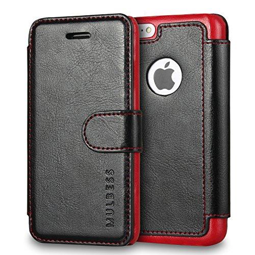 Mulbess Cover per iPhone 5c, Custodia Pelle con Magnetica per iPhone 5c Caso, Nero