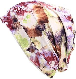Gracmyron Summer Chemo Cap Hair Cover Sleep Beanie - Amazing Soft, Elastic,Printing Flower