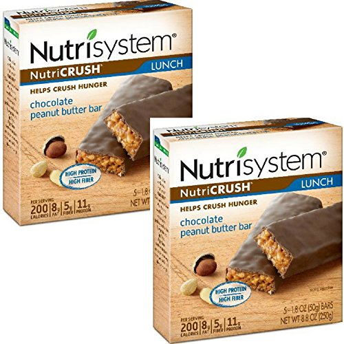 Nutrisystem NutriCrush Lunch Bars (Chocolate Peanut Butter, 5 ct, Pack of 2)