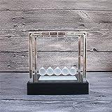 PROW Tamaño Medio Colorido Brillante Fregar Bola de Cristal Creativo Cuna de Newton Negro Base Equilibrio La Pelota Simulación Movimiento Permanente Físico Mecánica Juguetes científicos