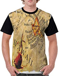 BlountDecor Loose T Shirt,Nostalgic Antique Vehicle Fashion Personality Customization