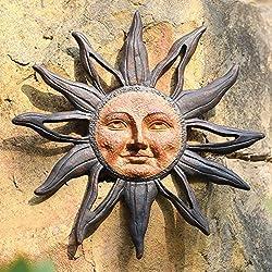 Yellow sunface garden art.