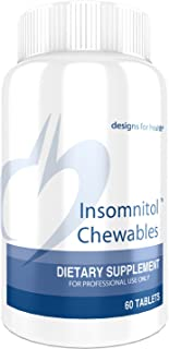 Designs for Health Insomnitol Chewables - Chewable Melatonin Sleep Support with L-Theanine, 5-HTP, B6 + Inositol - Non-GMO...