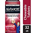 Airborne Vitamin C 1000mg Immune Support Supplement, Chewable Tablets, Berry, 32 Count