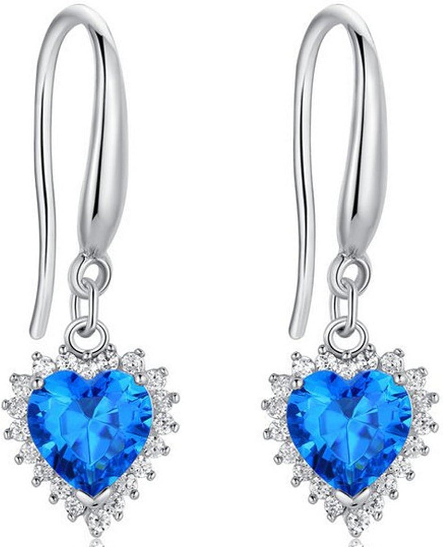 SaySure - 925 Sterling Silber Heart of Ocean dangel earring earring earring BDE93 B0173CPZJS  Abrechnungspreis d8a77c