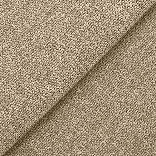 DESHOME Roma 5 metri - Tessuto al Metro Idrorepellente Stoffa per divani, cuscini, tappezzeria, arredo (Grigio beige)
