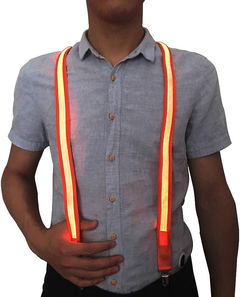 Cinny Suspenders Light up LED 1 inch Width