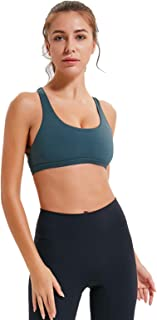 Women's Gym Yoga Bras, Sexy Backless Cross Back Breathable Sports Bra for Gym Yoga,Green,4
