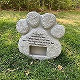 JOMYO Pet Memorial, Placa Conmemorativa, Lápidas De Perros De Mascotas, Piedra Memorial De Perro con Marco De Fotos Mascotas Monumentos Monumentos, Marcador De La Tumba De La Resina, para La Tumba Al