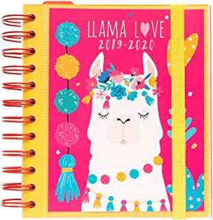 """Llama Lover Daily Planner, Dated Middle School or High School Student Planner for Academic Year 2019-2020, 10 Months (September 2019 Through June 2020), Organizer, Calendar and Agenda, 5.5""""x 6.3"""""""