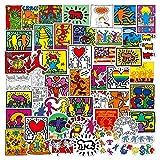 Later Graffiti di Arte di Strada Keith Haring Valigia di personalità Europea e Americana Keith Haring Adesivi Impermeabili 50PCS