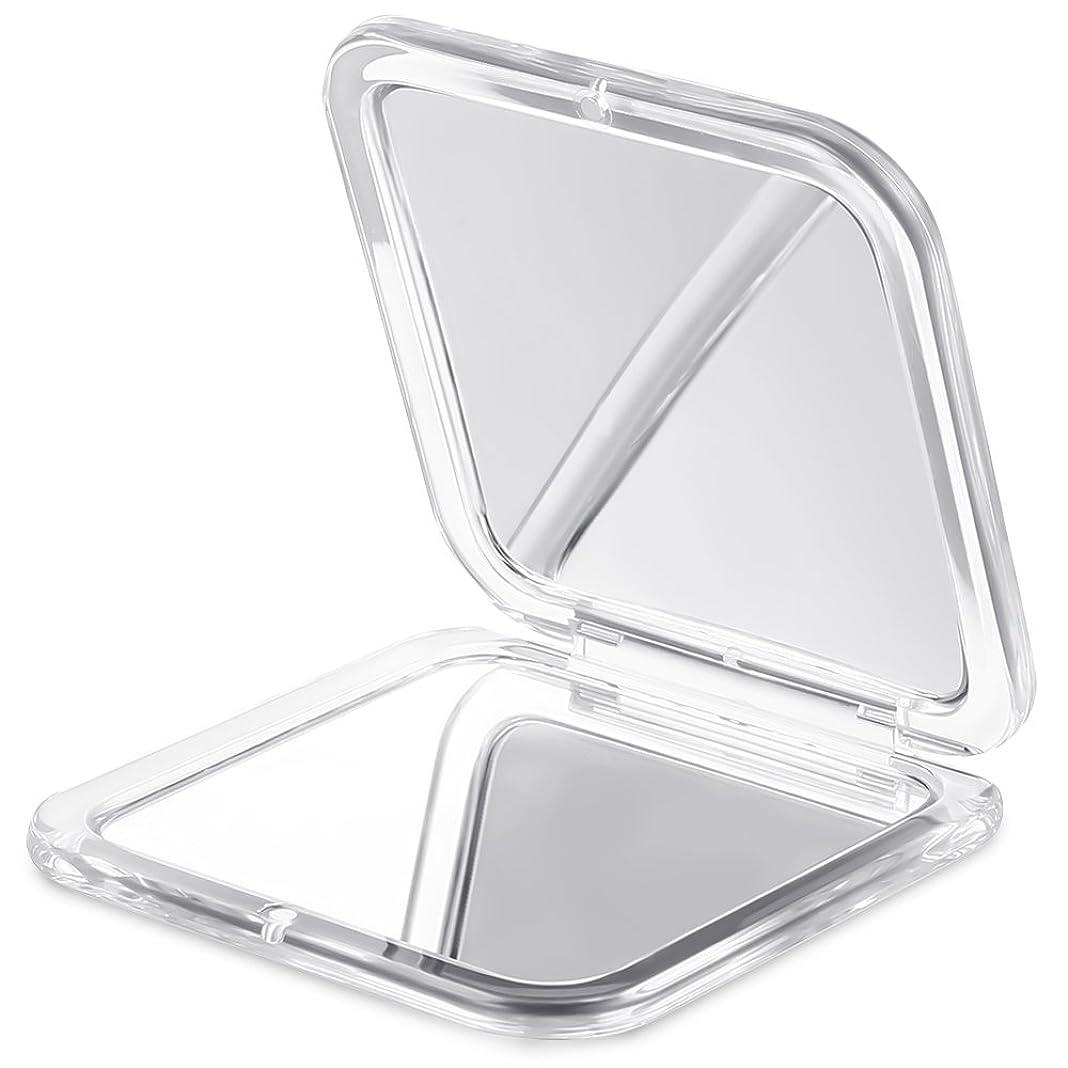 花に水をやる北西方法論Jerrybox 両面コンパクトミラー 化粧鏡 拡大鏡 5倍拡大+等倍鏡 折りたたみ式 コンパクト鏡 携帯ミラー 外出に