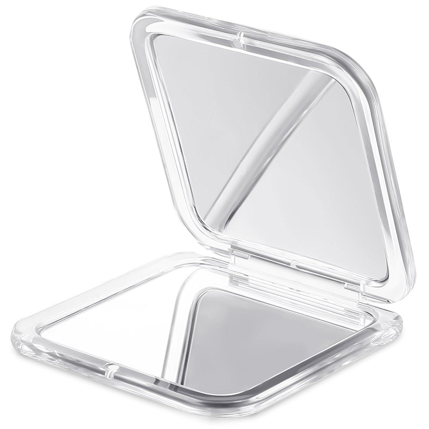 ラベル殉教者母Jerrybox 両面コンパクトミラー 化粧鏡 拡大鏡 5倍拡大+等倍鏡 折りたたみ式 コンパクト鏡 携帯ミラー 外出に